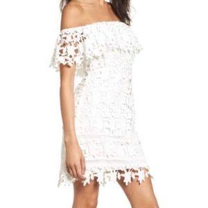 Astr The Label Lace Off The Shoulder Dress